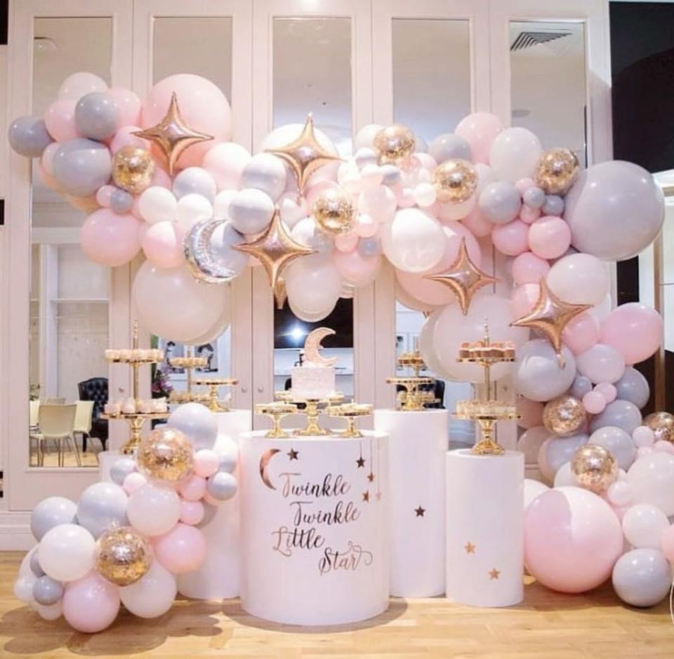 decoracion baby shower niña elegante