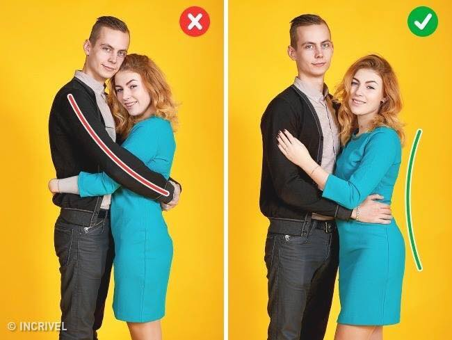 Poses para fotos en pareja divertidas