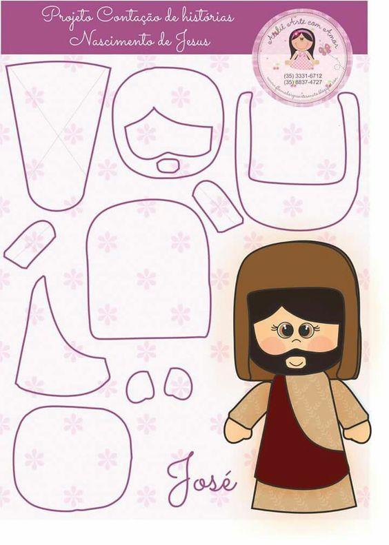 Figuras de nacimiento o belen moldes y patrones