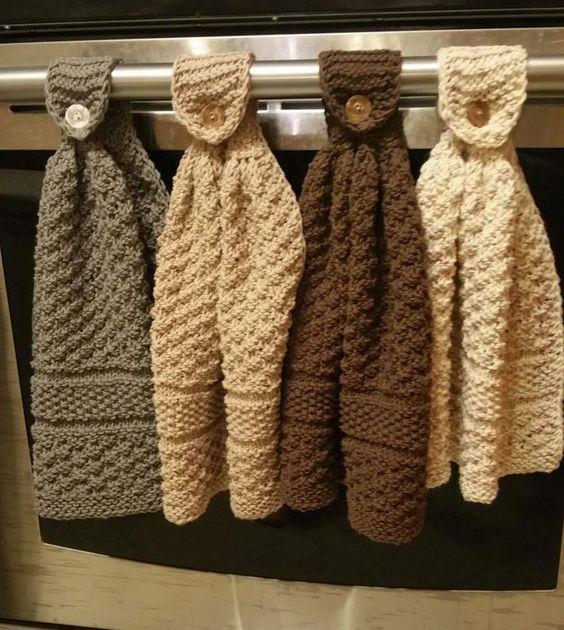 Ideas para decorar la puerta del horno con manualidades de tela