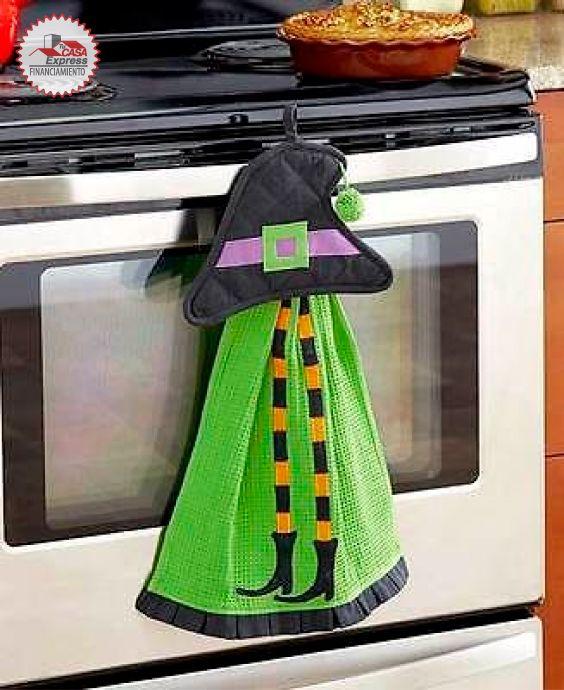 Ideas para decorar la puerta del horno en noche de brujas