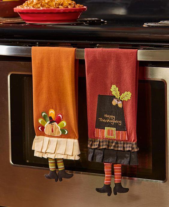Ideas para decorar la puerta del horno en acción de gracias