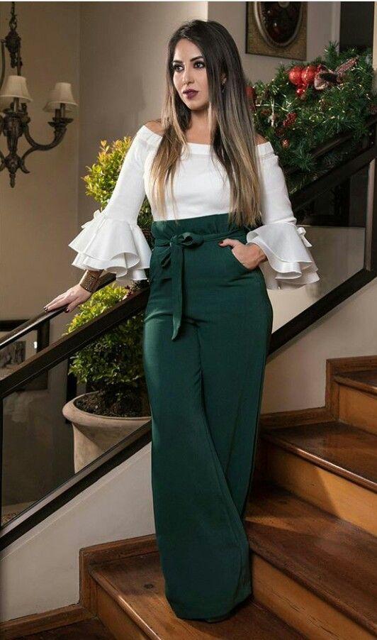 Pantalones de moda 2019 mujer con lazos