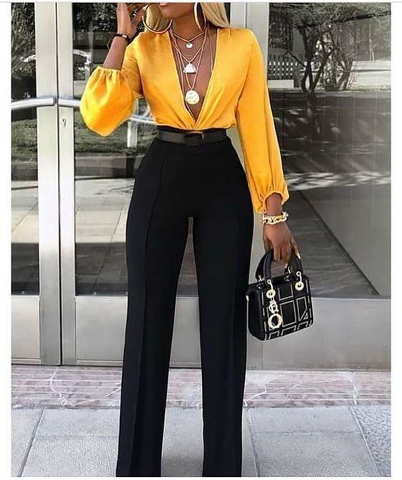 Pantalones de moda 2019 para mujer negros