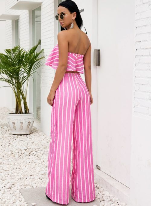 Pantalones de moda para mujer rosas
