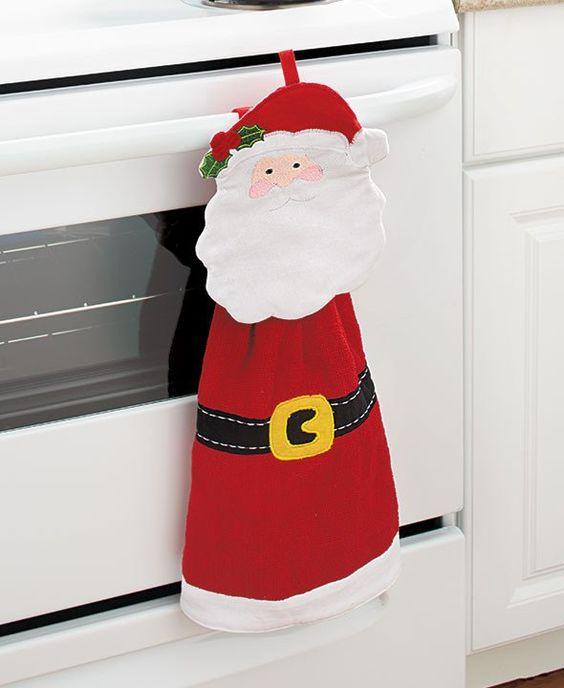 Servilletas navideñas para decorar la puerta del horno