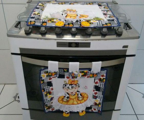 Servilletas para decorar la puerta de la estufa