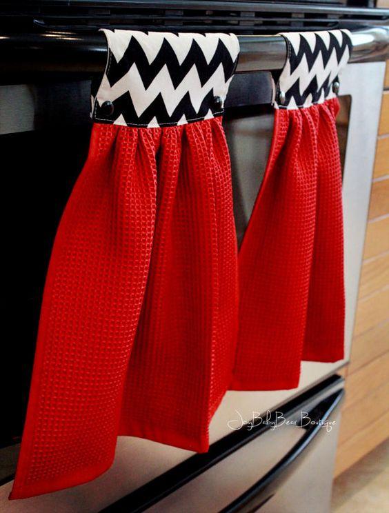 Servilletas para decorar la puerta del horno sencillas