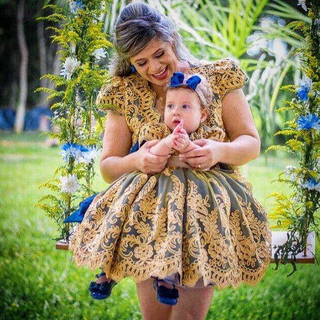 vestidos de fiestas mama e hija sencillos