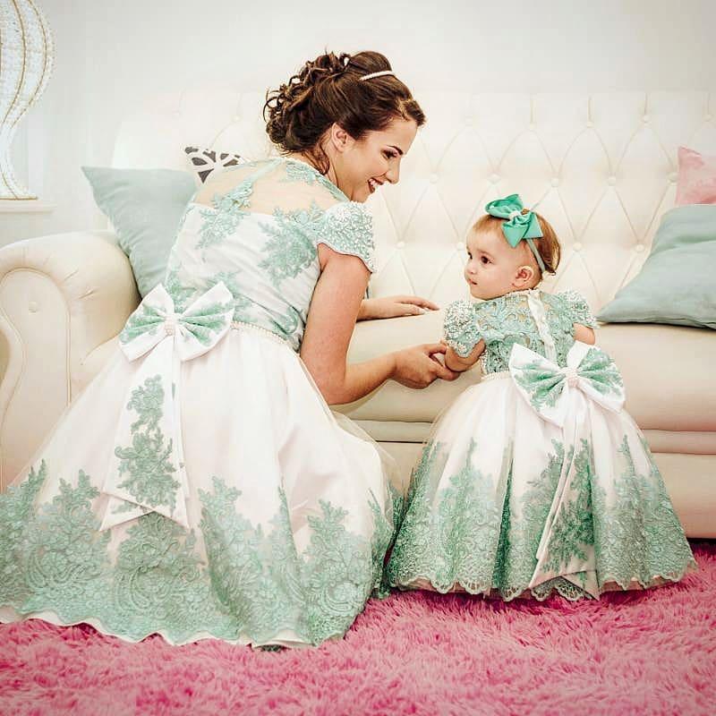 vestidos elegantes de fiestas para mama e hija