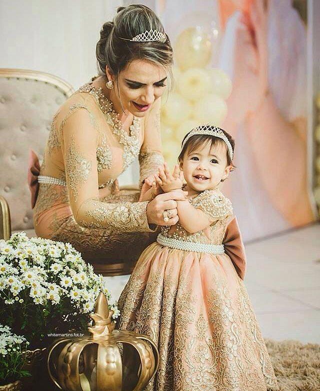 vestidos elegantes para fiestas infantiles mama e hija