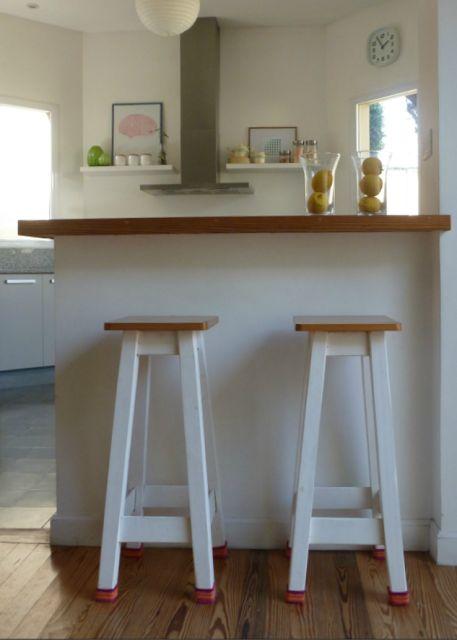 bancos para barra de madera