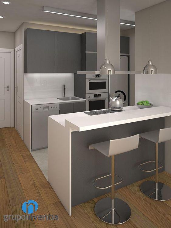 bancos para cocina minimalistas