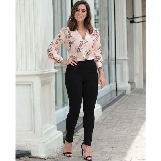 blusas de oficina 2019 - 2020 rosas