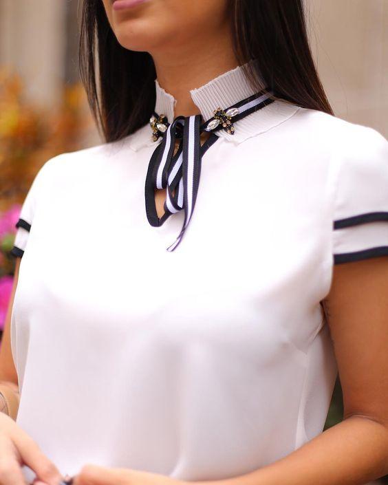 blusas ejecutivas en color blanco