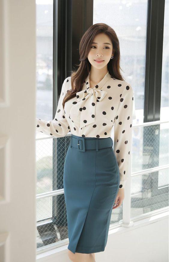 blusas elegantes para ejecutivas