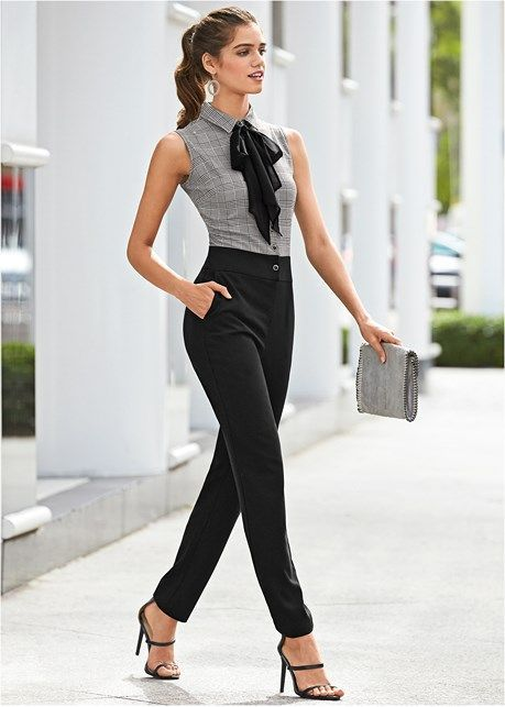 blusas formales para oficina manga corta