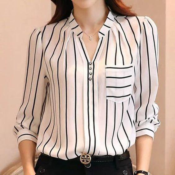blusas para oficina modernas