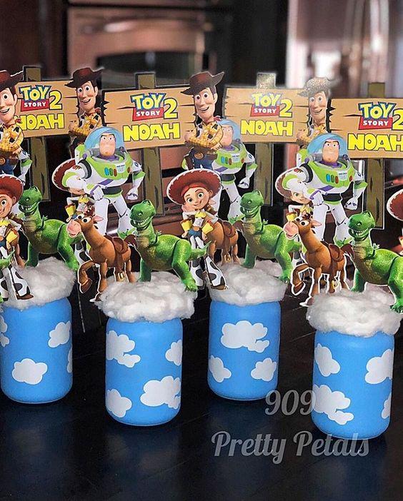 centros de mesa para fiesta de toy story 4