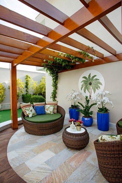 diseños de palapas para decorar jardines