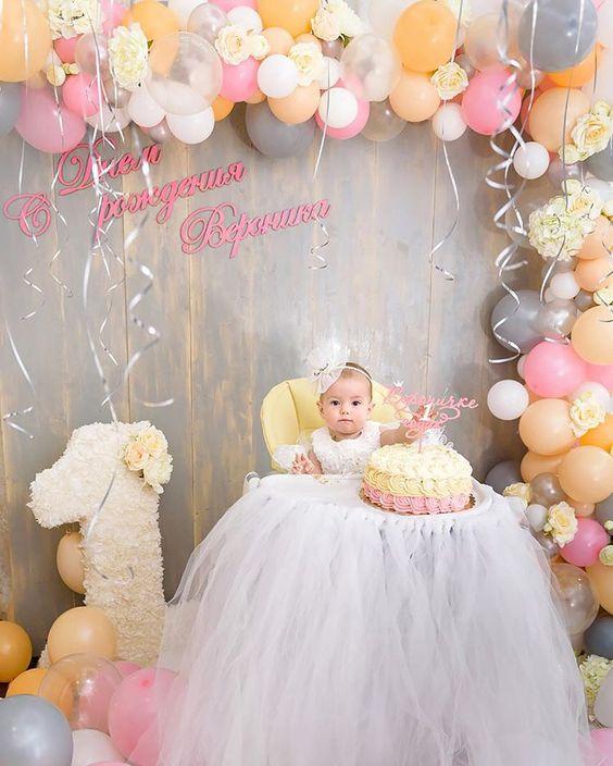 Ideas para celebrar el primer año niña