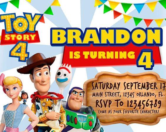 invitaciones de toy story 4
