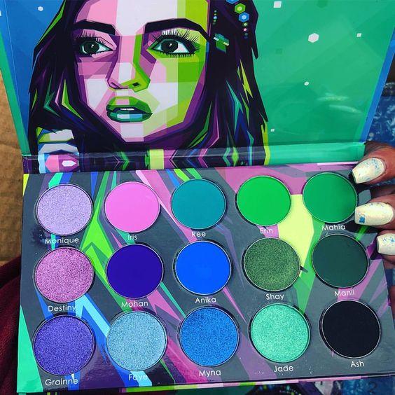 kit basico para maquillaje neon