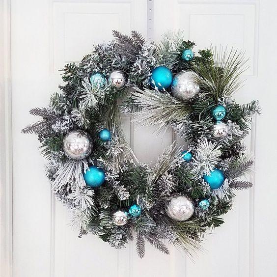 puertas decoradas de navidad 2019 con coronas