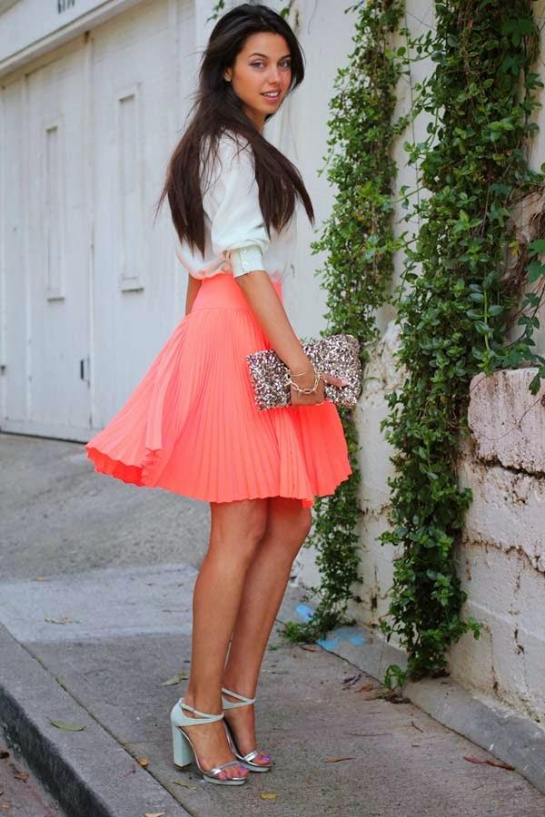 faldas con corte circular para disimular la pansita