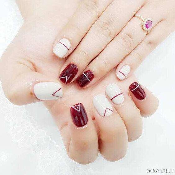 manicure con estilo geometrico