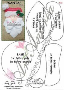 moldes de adornos navideños en fieltro gratis