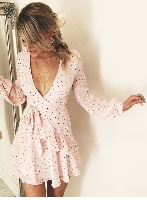 vestidos con cruce para esconder la barriga