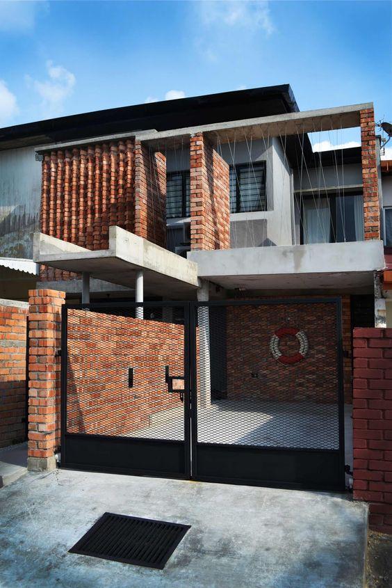 ladrillo a la vista para fachadas modernas