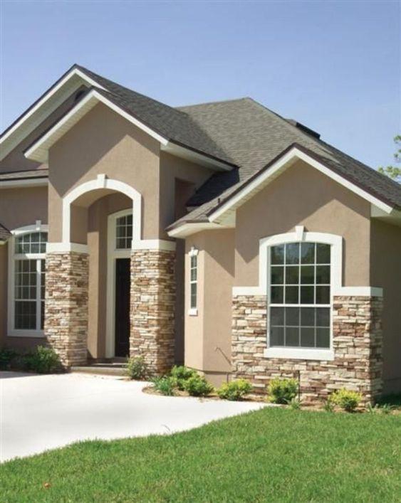material para fachadas exteriores con piedra