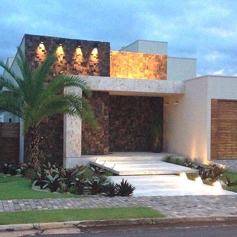 revestimientos modernos para exterior con hormigon y piedra