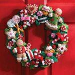 Coronas de navidad de fieltro