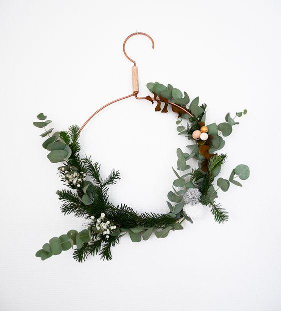 DIY coronas de navidad