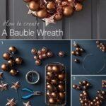 Ideas de coronas para navidad de esferas