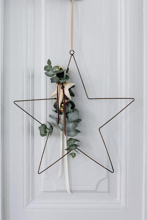 Opciones de coronas para navidad minimalistas